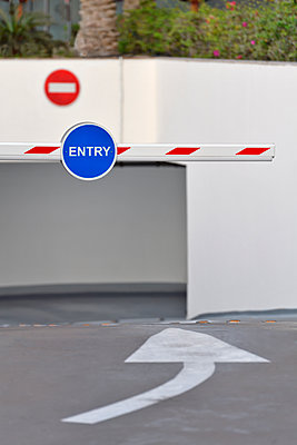 Car park entrance barrier - p1048m1512715 by Mark Wagner