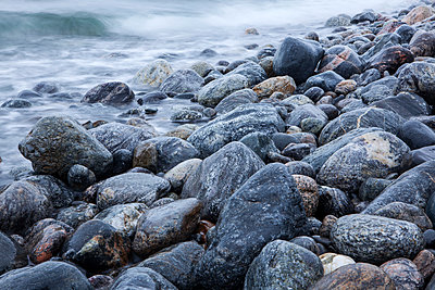 Rocky coast - p312m1470524 by Malcolm Hanes