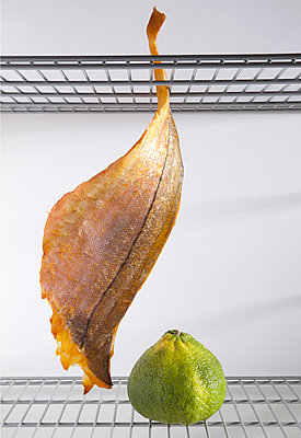 Haddock in the fridge - p1371m1225745 by Virginie Perocheau