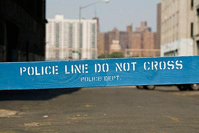 A Police cordon - p30118335f by Stella