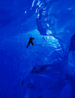 Ice Climbing @ Mendenhall Glacier Southeast Alaska Summer Scenic - p442m967002 by David Job