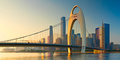 Skyline of Tianhe, Guangzhou, Guangdong, China - p651m2006584 by Ian Trower