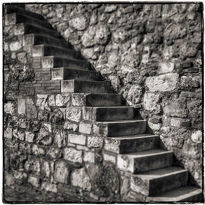 Stone stairs - p1154m1193273 by Tom Hogan