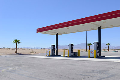 Petrol station - p1190m967945 by Sarah Eick