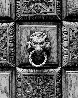 Löwenkopf-Türzieher in Venedig - p1493m1585665 von Alexander Mertsch