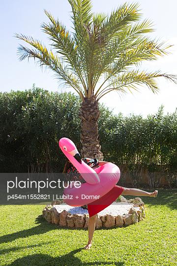 Flamingo-Tanz - p454m1552821 von Lubitz + Dorner