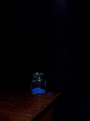Blue pigment - p444m898554 by Müggenburg