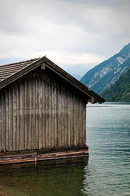 Lake in the mountains - p715m755914 by Marina Biederbick