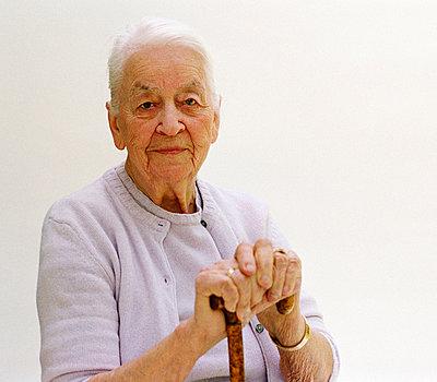 Proud elderly woman - p2270059 by Uwe Nölke