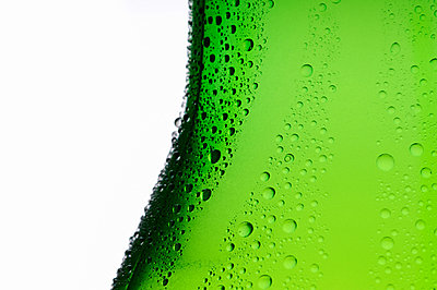 Bottle of lager, close up - p9243268f by Image Source