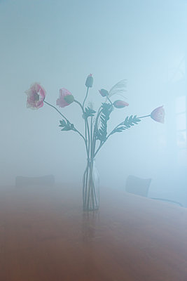 Flowers in a room full of smoke - p1231m2013526 by Iris Loonen