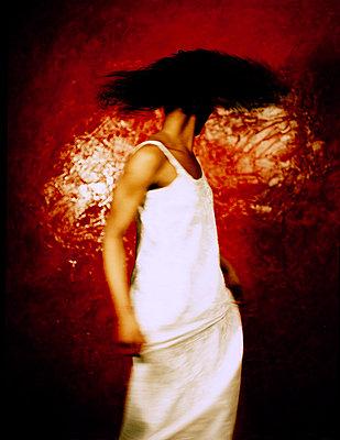 Girl in White Dress - p1072m829386 by Neville Mountford-Hoare