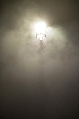 Latern in foggy weather - p1096m880026 by Rajkumar Singh