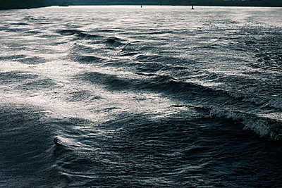 Elbe river with waves - p354m1043369 by Andreas Süss
