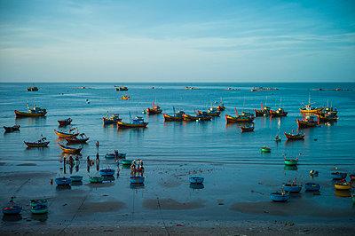 Fishing harbor in Mui Ne, Binh Thuan Province, Vietnam, Southeast Asia - p934m1177102 by Sebastien Loffler