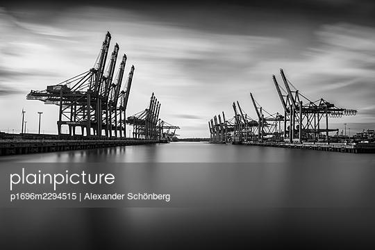 Container harbour - p1696m2294515 by Alexander Schönberg
