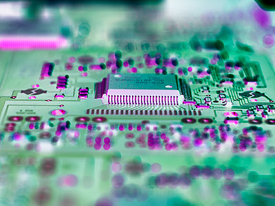 Close up of circuit board - p300m2058582 by Andrew Brookes