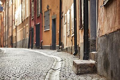 Cobblestone street - p312m1147581 by Johan Alp
