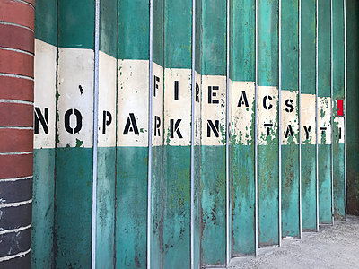 Garage door - no parking - p1048m2016470 by Mark Wagner