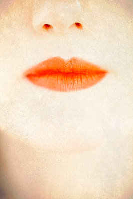 Close Up of Woman's Face and Lips  - p1248m2087686 by miguel sobreira