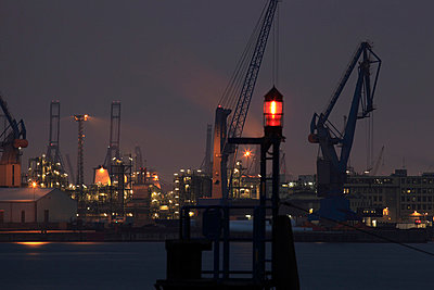 Harbour in Hamburg; Germany - p1790751 by Roland Schneider