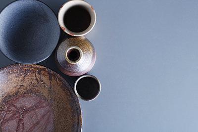 Japanese traditional pottery - p307m1106038f by Hideki Yoshihara