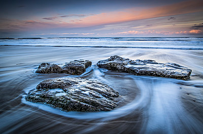 Black rocks on North East coast; South Shields, Tyne and Wear, England - p442m1482877 by Philip Payne