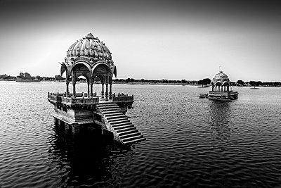 Chhatri in Amar Sagar Lake - p1445m1586057 by Eugenia Kyriakopoulou