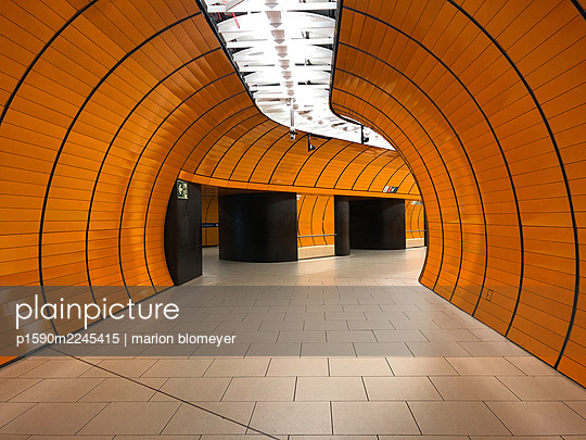 Subway station, Marienplatz, Munich - p1590m2245415 by marion blomeyer