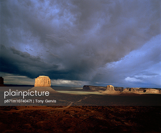 Monument Valley, an area in Utah and Arizona, United States of America (U.S.A.), North America
