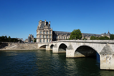 The Pont Royal with Louvre in background - p1189m1218647 by Adnan Arnaout