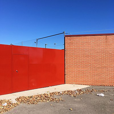 Red gate - p1401m1513061 by Jens Goldbeck