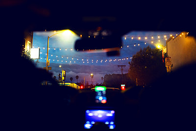 Car ride at night - p1301m2168847 by Delia Baum