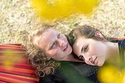 In the hammock - p1437m2107324 by Achim Bunz