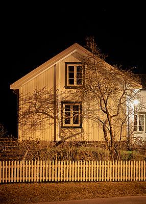Haus mit Baum bei Nacht - p1124m1424211 von Willing-Holtz