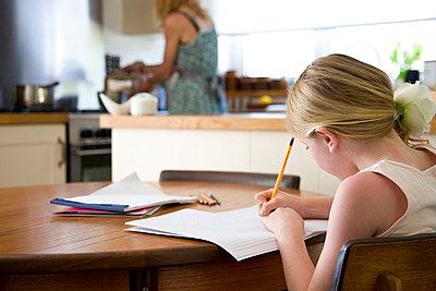 Girl Doing Homework - p6692304 by David Harrigan