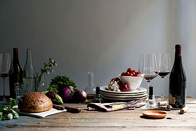 Still Life with Italien Food - p938m754469 by Christina Holmes