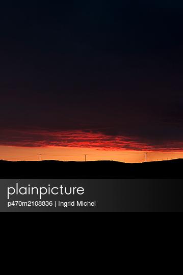 Sunset on North Uist in Scotland - p470m2108836 by Ingrid Michel