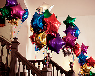 Colourful balloons - p1499m2013472 by Marion Barat