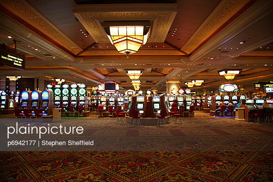 Las Vegas Casino Floor Interior - p6942177 by Stephen Sheffield