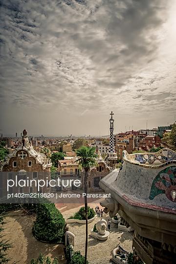 Spain, Barcelona, Güell Park - p1402m2219820 by Jerome Paressant