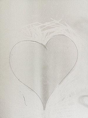 Herz mit Bleistift - p1383m2052832 von Wolfgang Steiner
