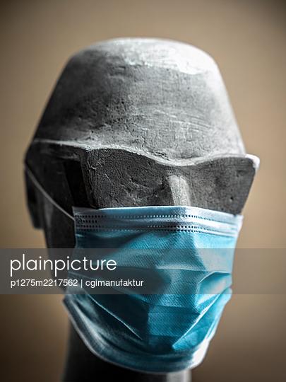 Coronavirus, Face mask - p1275m2217562 by cgimanufaktur
