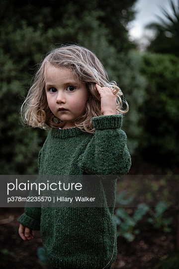 Portrait of young girl - p378m2235570 by Hilary Walker