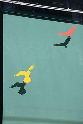 Vögel Attrappen am Fenster - p1229m1584622 von noa-mar