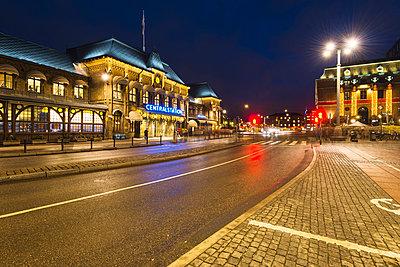City street at night - p312m1024916f by Mikael Svensson