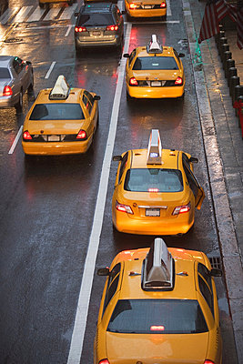 Taxicabs in New York City traffic, USA - p92411502f by Ditto