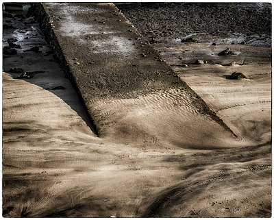 Patterns on sand at low tide  - p1154m1110185 by Tom Hogan