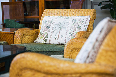 Wicker Patio Furniture - p5550807f by LOOK Photography