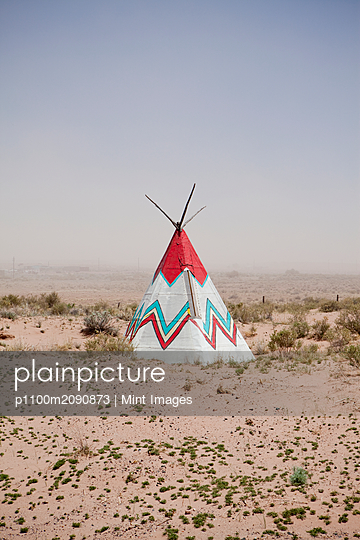 Native American Tipi Replica - p1100m2090873 by Mint Images